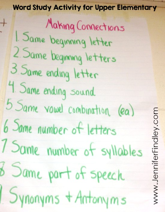 FREE Word Study Activity for Upper Elementary! Read this post to learn about a word study activity that is perfect for 4th and 5th graders. Free printable to have your students complete the activity also included!