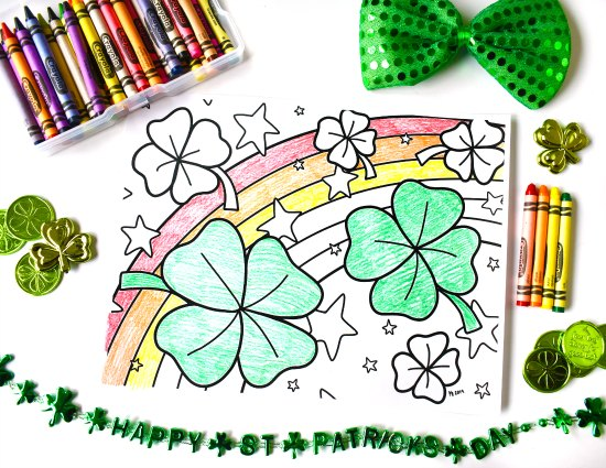 FREE St. Patrick's Day Coloring Page! St. Patrick's Day activities for 4th and 5th graders! Engage your 4th and 5th graders during March with these engaging St. Patrick's Day activities and freebies.