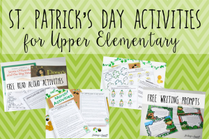 St. Patrick's Day Activities for Upper Elementary
