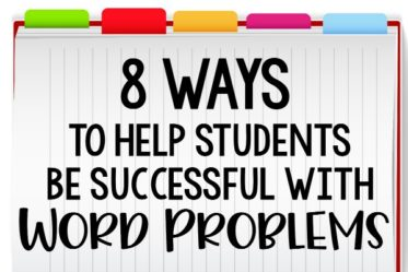 Word problems can be really difficult for students. This post shares 8 ways to help students be successful with word problems in upper elementary grades.