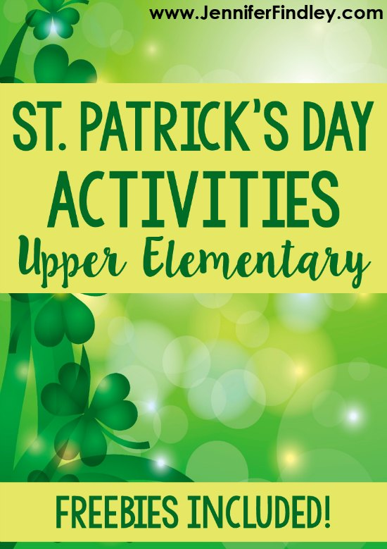 St. Patrick's Day activities for 4th and 5th graders! Engage your 4th and 5th graders during March with these engaging St. Patrick's Day activities and freebies.