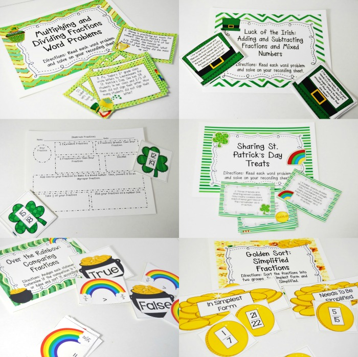 St. Patrick's Day Activities for Upper Elementary Students with Several FREEBIES!