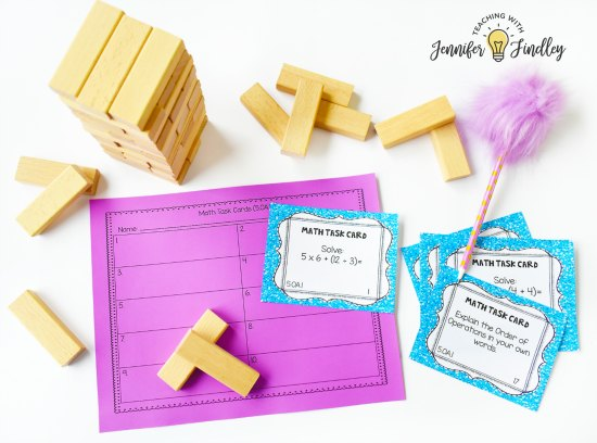 Engage students with fun test prep using Jenga games! This post shares how to use Jenga with any content or skills you are reviewing. FREE Jenga Test Pep directions printable included!