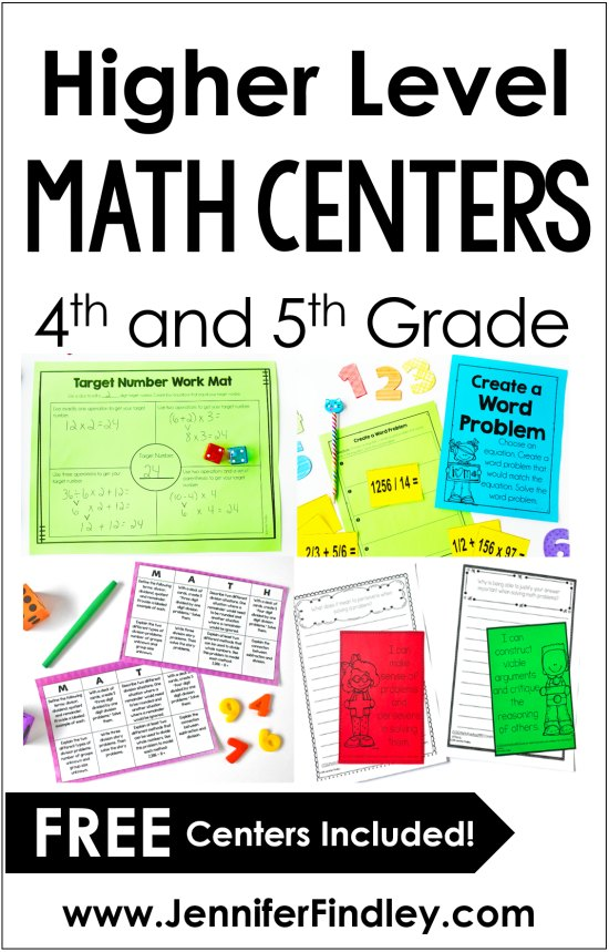 Math centers don't have to be only computation or fact fluency practice. This post shares SIX higher level math centers that are perfect for upper elementary, including FREE centers!