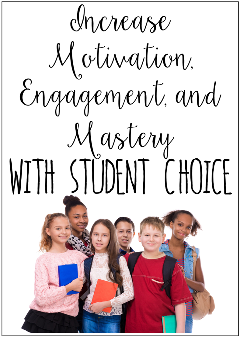 Students are far more engaged and motivated when given choice. This post breaks down how you can use choice boards to offer choice and increase student mastery. FREE choice boards included.