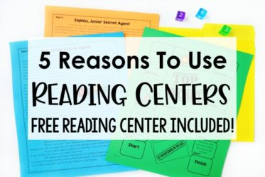 Reading centers are a perfect way to engage, motivate, and challenge your upper elementary students. Read this post for five reasons why. Also, grab a free reading center for 4th and 5th grades!