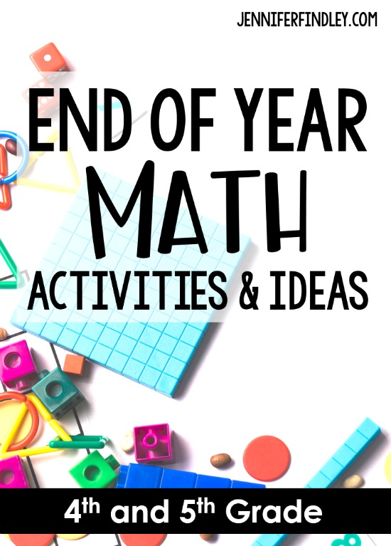 End of the year activities and ideas for math! The end of the year doesn't have to be difficult. Try these engaging end of year math activities to keep your 4th and 5th graders engaged and learning until the end. Several freebies on this post.