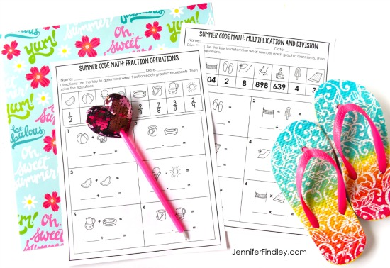 No prep end of the year math printables and activities for the final month of school! Read more ideas for end of the year activities on this post, including a few freebies!