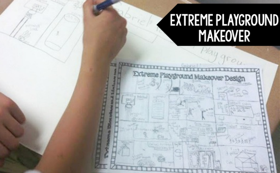 Extreme playground makeover is my favorite end of the year math activity. Read more and get even more ideas for end of the year math activities on this post.