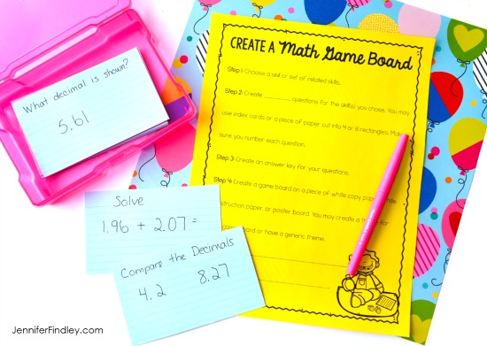 Having your students create and design their own board games is the perfect end of year activity. Get the details, grab freebies, and read more end of the year math activities and ideas on this post.