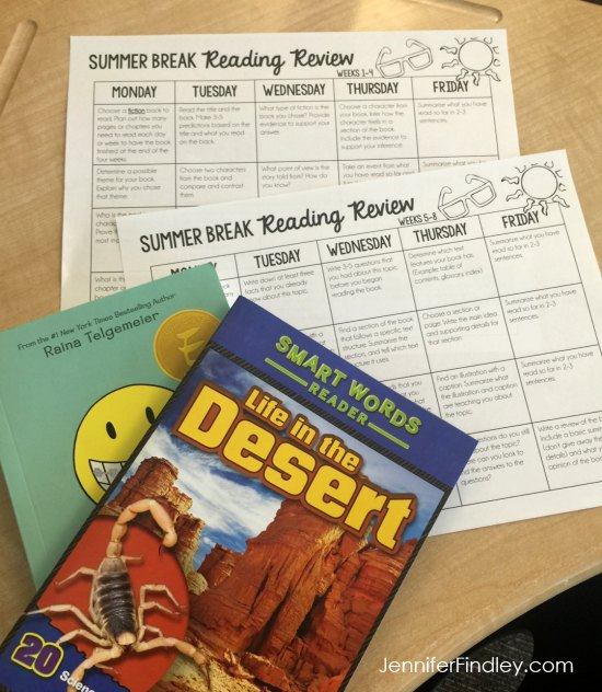 Summer reading review for 4th and 5th graders! Prevent the summer slide with summer reading review for the 4th and 5th grade students. Works with any fiction and nonfiction book. Read more on this post.
