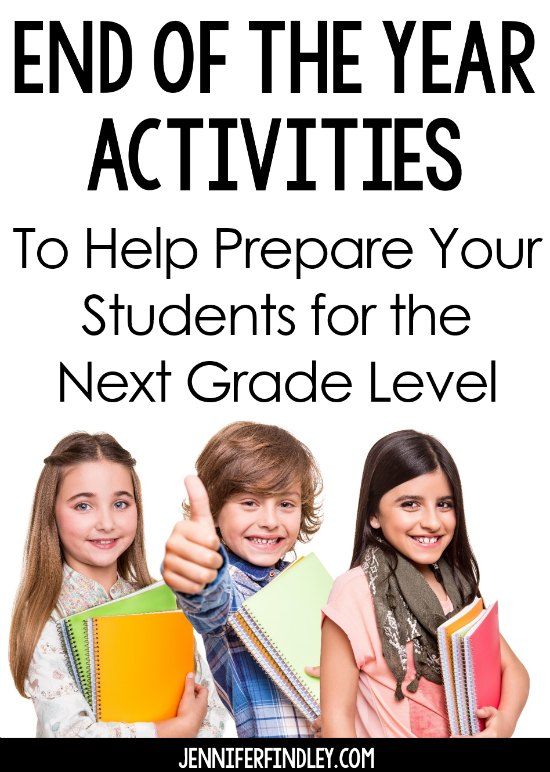 This post shares several engaging end of the year activities that help prepare students for the next grade level. Several freebies on this post.