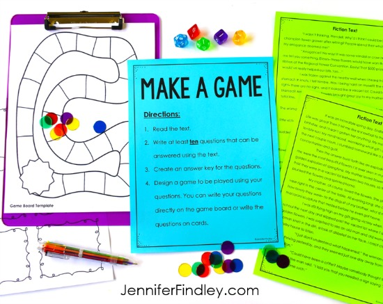 End of the year literacy activities! Keep your 4th and 5th grade students engaged right up until the end with these engaging literacy activities for the end of the year.