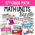 The ultimate resource if you are teaching 5th grade math! This HUGE 400+ page bundle includes seven math units for 5th grade.