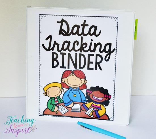 FREE binder covers and spines for data tracking binders.