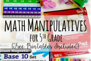 Math Manipulatives for 5th Grade (Free Printable Activities)
