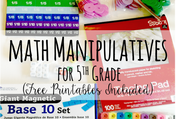 graphic relating to Fraction Manipulatives Printable referred to as Math Manipulatives for 5th Quality (Totally free Printables)
