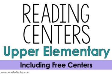 This post shares 10 reading center ideas for upper elementary students that are rigorous and engaging. Several freebies on this post.