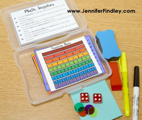 Create your own math toolboxes with these FREE printable math tools and other suggested hands-on math supplies. These are perfect to use during guided math stations and centers.