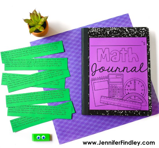 Math journal prompts are a great way to get your students writing in math. Read more tips and grab freebies on this post.