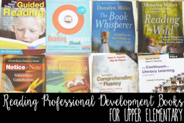 This book shares reading professional development books for upper elementary teachers. The post provides an overiew of what each book has to offer. This is a must-read if you teach upper elementary reading.
