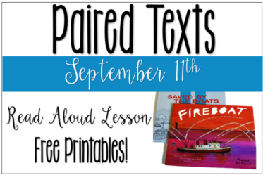 September 11th Lesson Idea (Free Printables to Use with Paired Read Alouds)