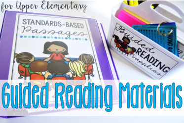 Must-have guided reading materials and supplies for upper elementary grades and how they can be used on this post. Grab the free label on this post.