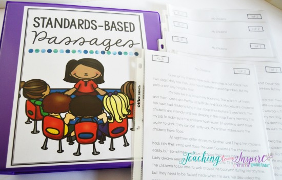 Read about how one teacher uses passages and other materials for guided reading groups. Grab this free binder cover.