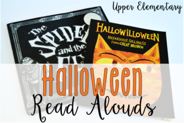 Halloween Read Alouds for Upper Elementary {Free Printables}