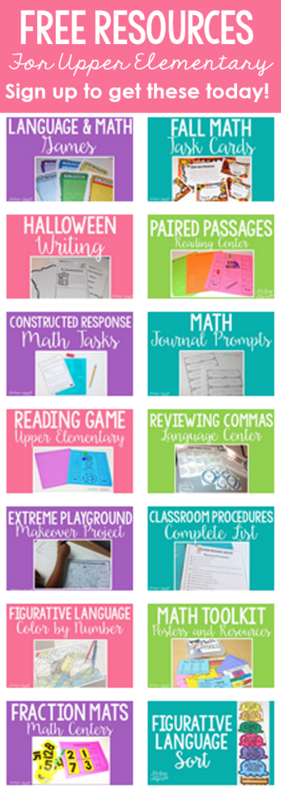 Want FREE resources to use in your upper elementary classroom? Subscribe to Teaching to Inspire with Jennifer Findley's email list to get access to an exclusive newsletter freebie library.