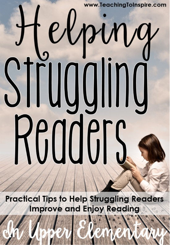 Are you overwhelmed when it comes to helping struggling readers in your classroom? Or do you just want some new tips to help your readers? This blog post shares TEN practical ways to help struggling students grow as readers and enjoy reading.