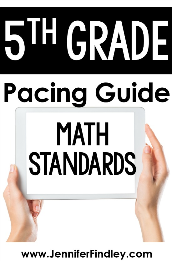 FREE 5th grade math pacing guide! Grab a copy of my 5th grade math pacing guide with rationale on this post.