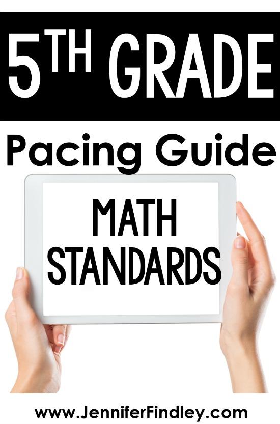 FREE 5th grade math pacing guide! Grab a copy of my 5th grade math pacing guide with rationale on this post.