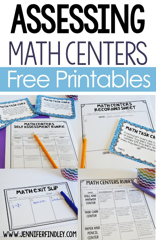 Assessing math centers made easy with these tips and free forms. Math center work can be frustrating to grade. Read this post for ideas to make it more efficient.