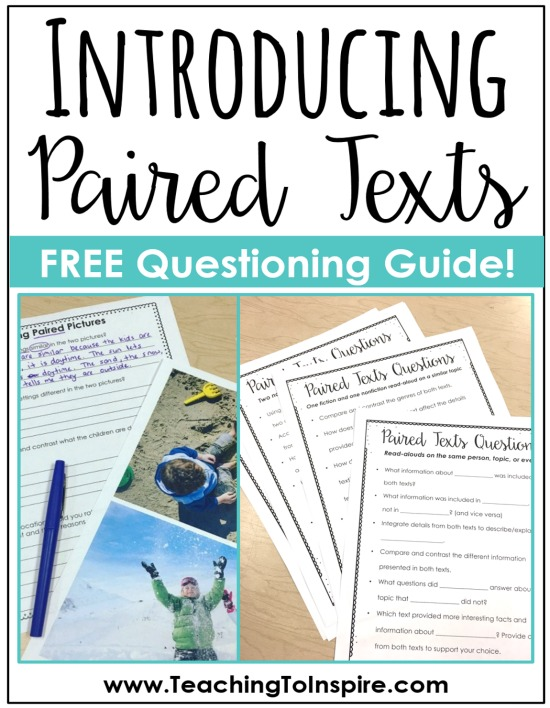 This post shares ideas, tips, and free resources for introducing paired texts and paired passages to your students through pictures and read-alouds.