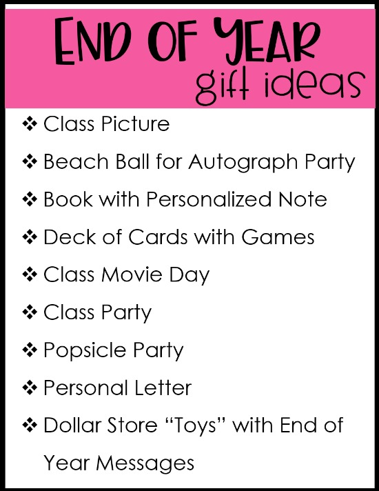 End of year gifts for students that are affordable and practical. These ideas are perfect for upper elementary students