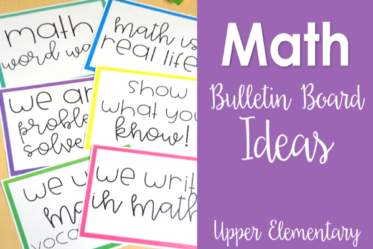 Want to have more math themed resources in your room? Check out this post for math bulletin boards that work great for upper elementary,