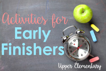 Activities for Early Finishers (Upper Elementary)