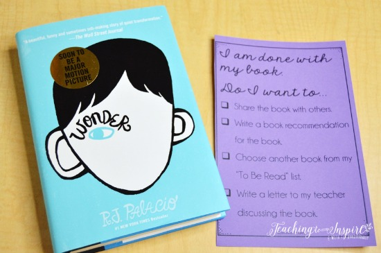 "Reading is never finished! Use this checklist to help your students know what to do when they are ""done reading."" Grab more early finisher activities on this post!"