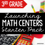 FREE Launching Math Centers Starter Pack for 3rd Grade