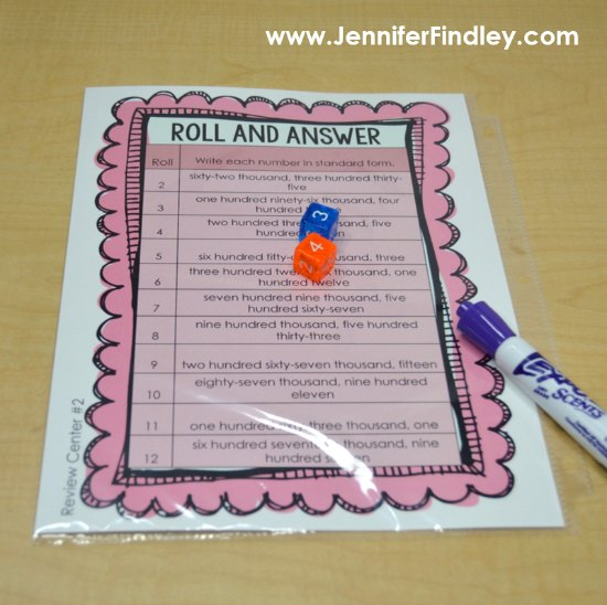 FREE roll and answer math games for launching math centers! Click through to download this math game for free and versions for 3rd, 4th, and 5th grade!