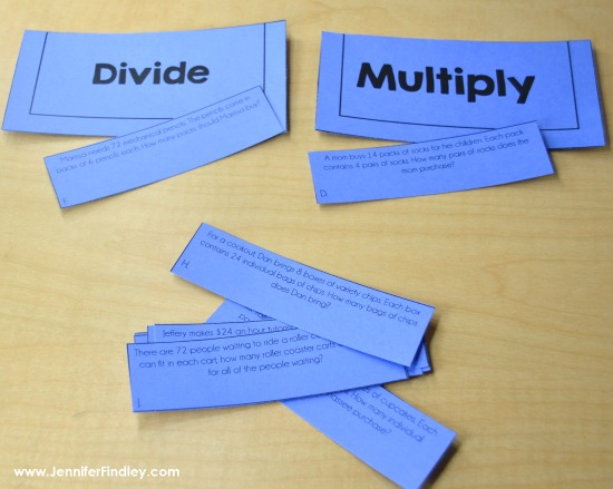 FREE math sorts to help you launch guided math centers in upper elementary!