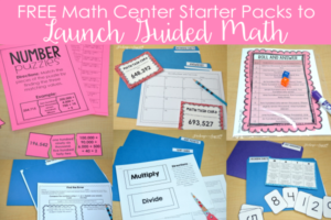 Launching Guided Math Centers with FREE Starter Packs