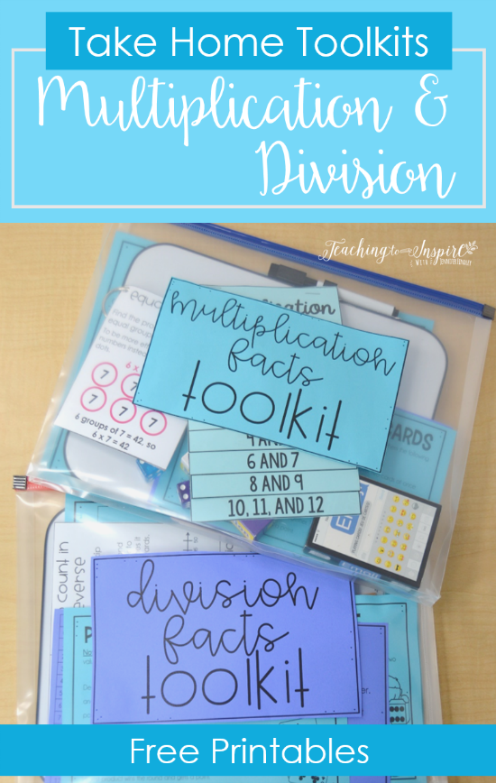 Multiplication and Division Practice | Free Math Facts Take Home ...