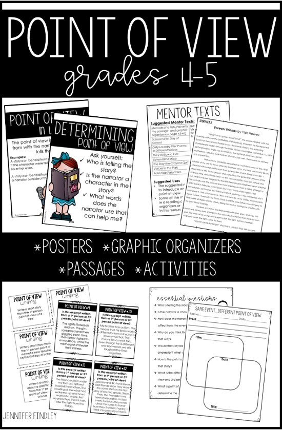 Everything you need to teach point of view in one resource! Follow this link for mentor text ideas and even more suggestions!
