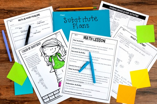 Ready-made substitute plans for 4th and 5th grade
