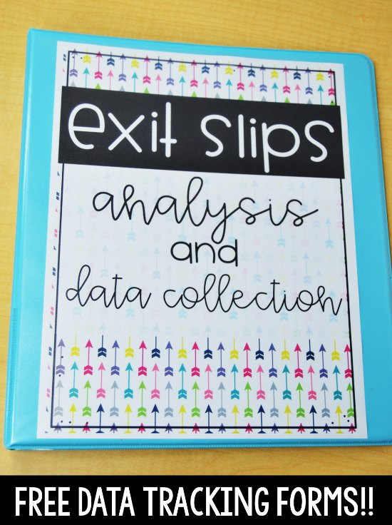 Do you use exit slips in your classroom? Grab these FREE data tracking forms to help you use exit slips to drive your instruction and improve student learning.