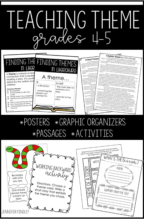 Everything you need to teach theme in one resource! Follow this link for mentor text ideas and even more suggestions!