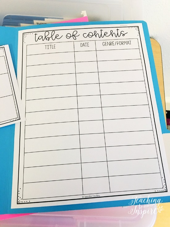 writing portfolios in upper elementary free forms