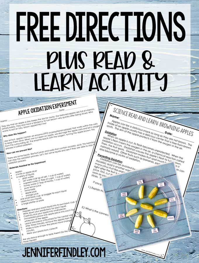 This fall science experiment with free science reading activity is perfect for 4th and 5th graders to connect reading and science. Great for the fall months and for a Friday science activity.